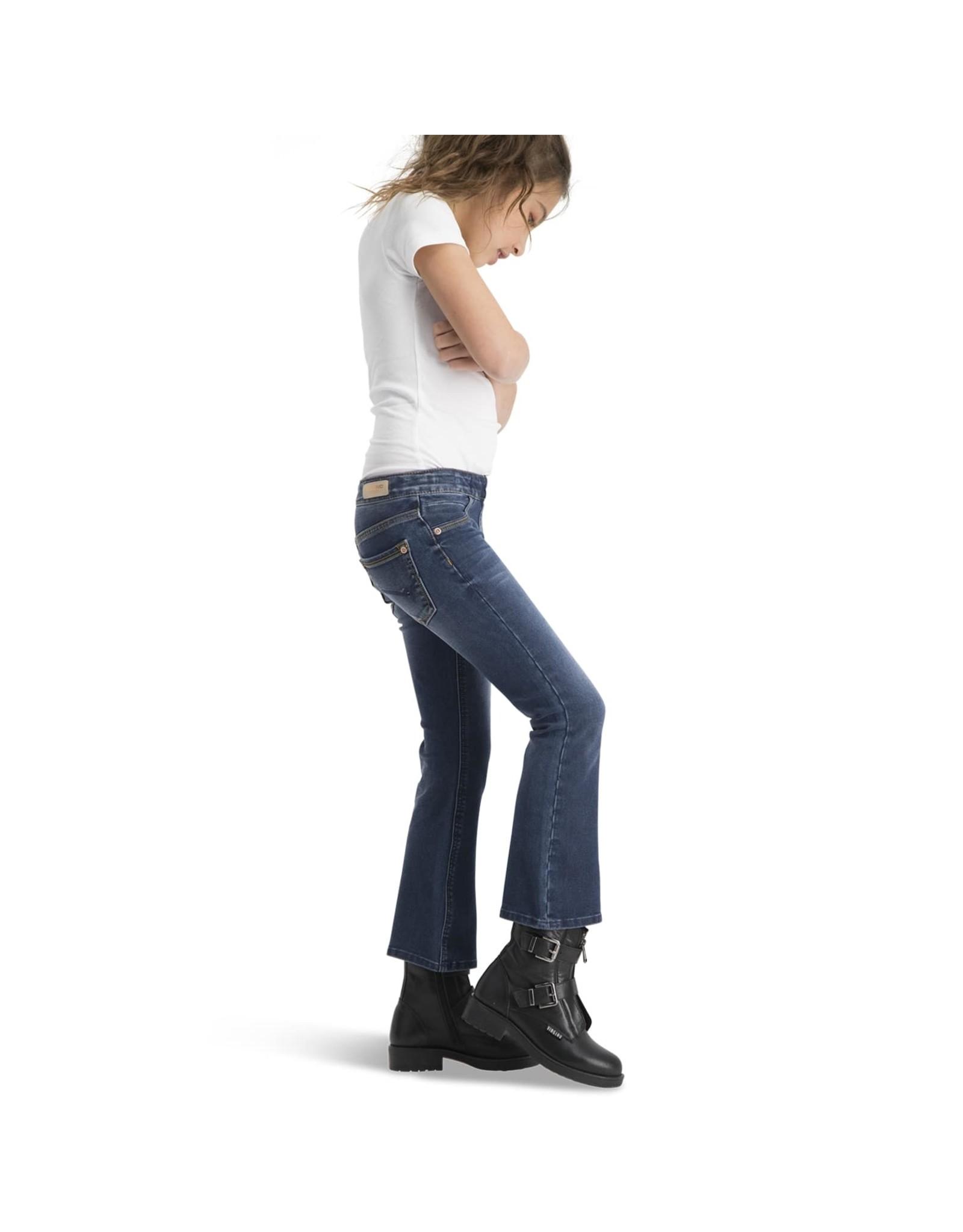 Vingino Vingino meiden 4-way stretch flairedpants Britney  Blue Vintage