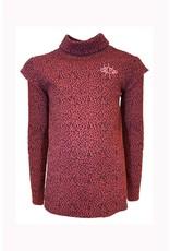 Topitm Topitm meiden rib shirt Arlette Leopard Ketchup