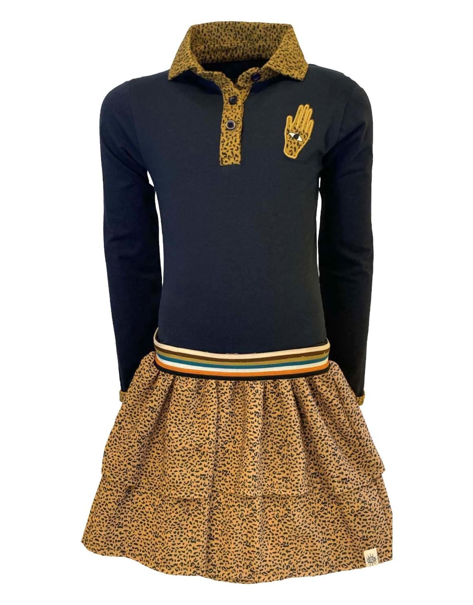 Topitm Topitm meiden jurk Aukje Leopard Brown