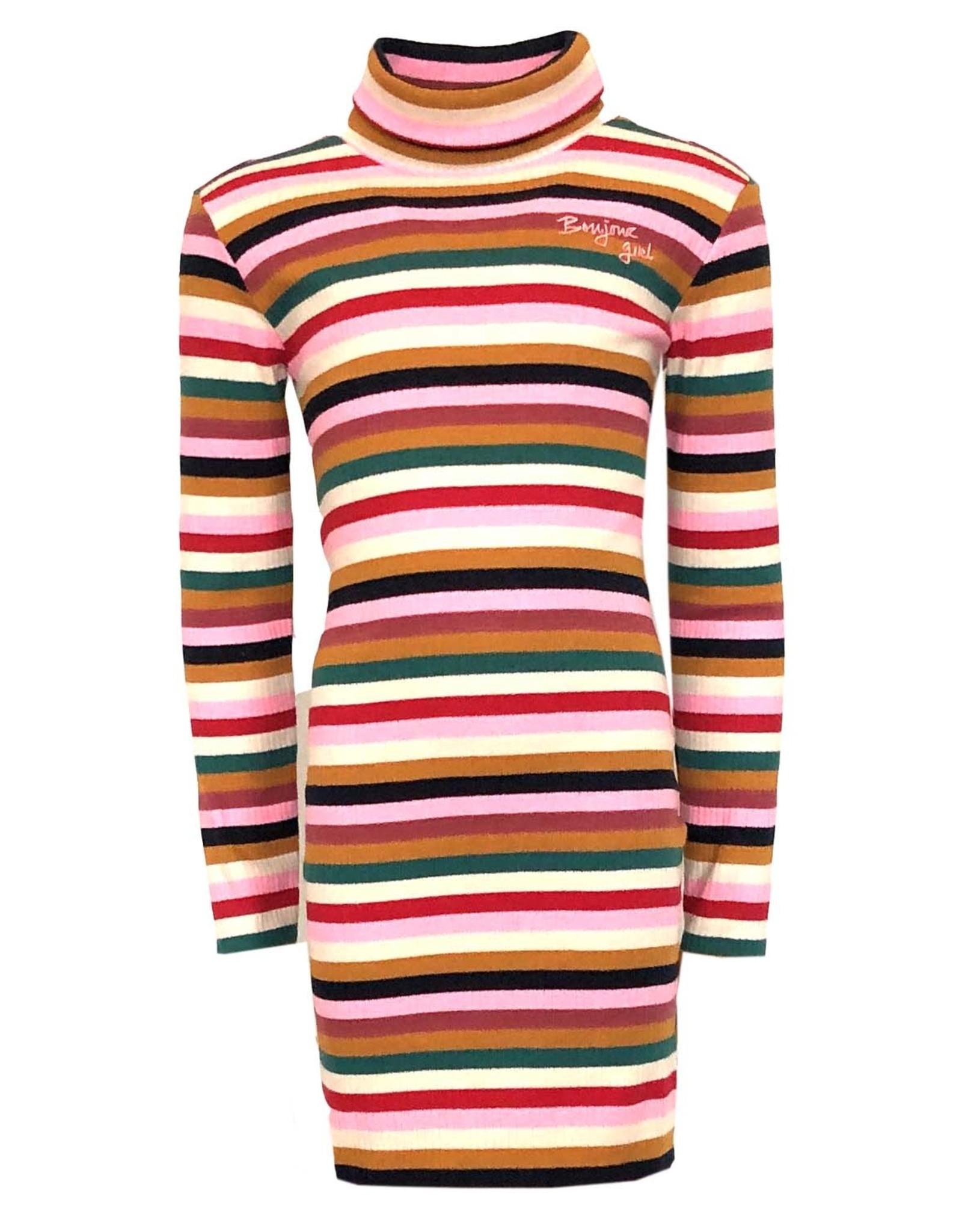 Topitm Topitm meiden rib jurk Aneli Multicolour