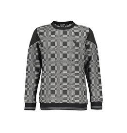 Bellaire Bellaire jongens sweater Kone aop Jet Black