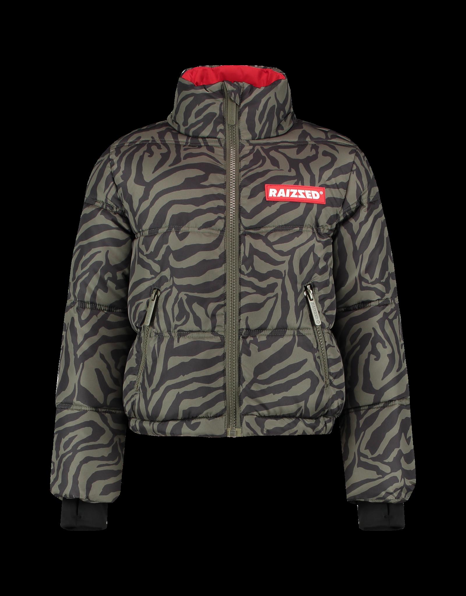 Raizzed Raizzed meiden winterjas Lima Army Zebra