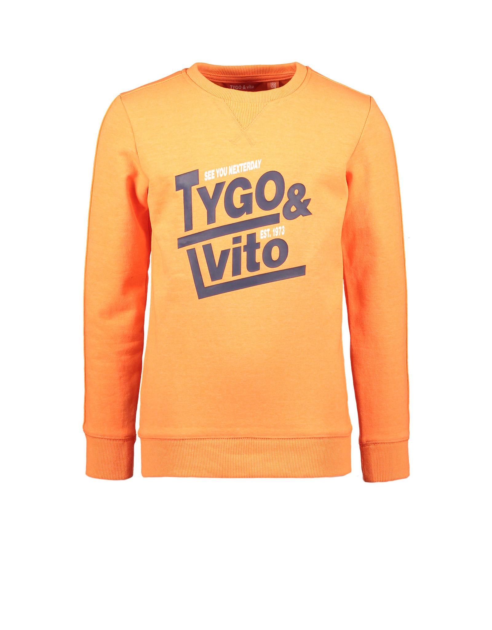 TYGO & vito TYGO & vito jongens sweater met Bies shocking Orange