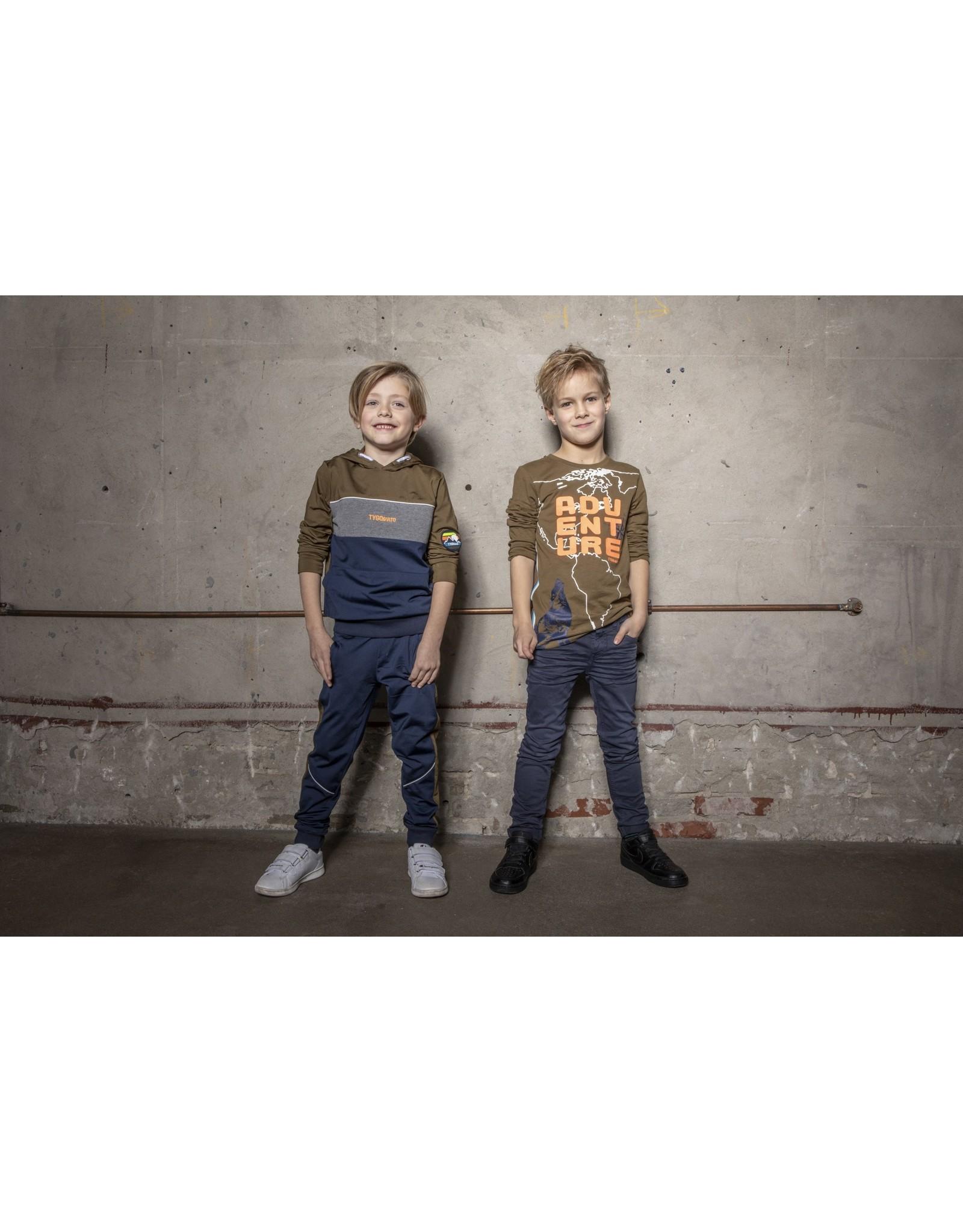 TYGO & vito TYGO & vito jongens shirt Adventure Army
