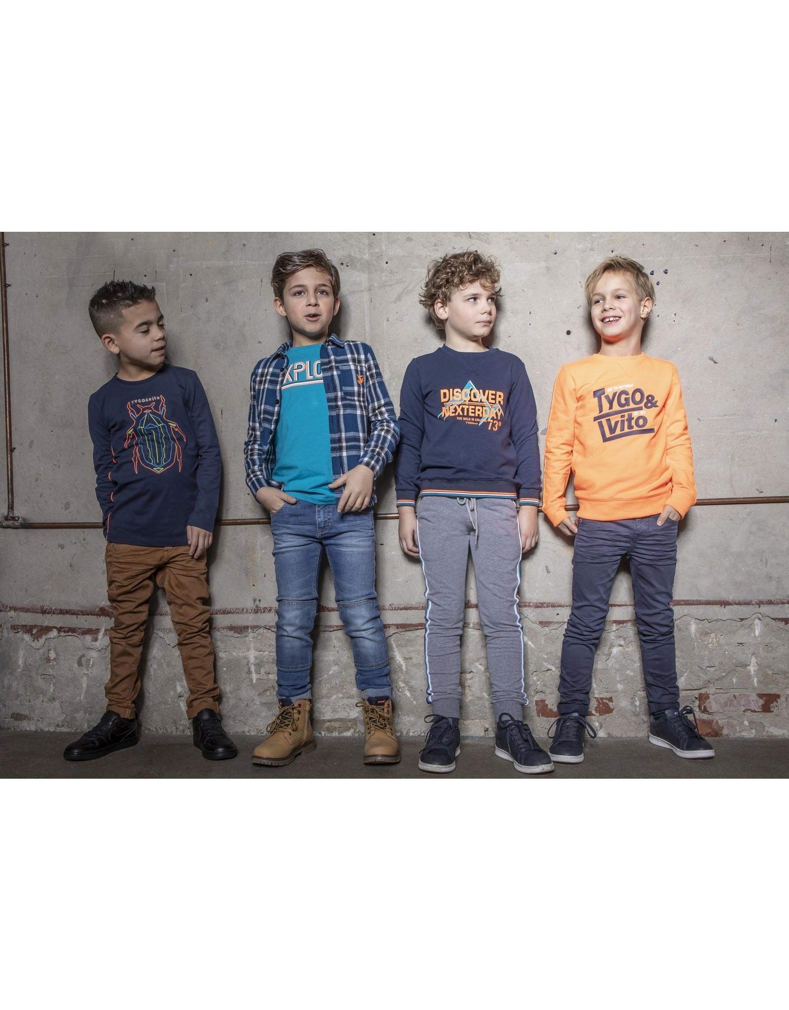 TYGO & vito TYGO & vito jongens skinny jeans Tobacco