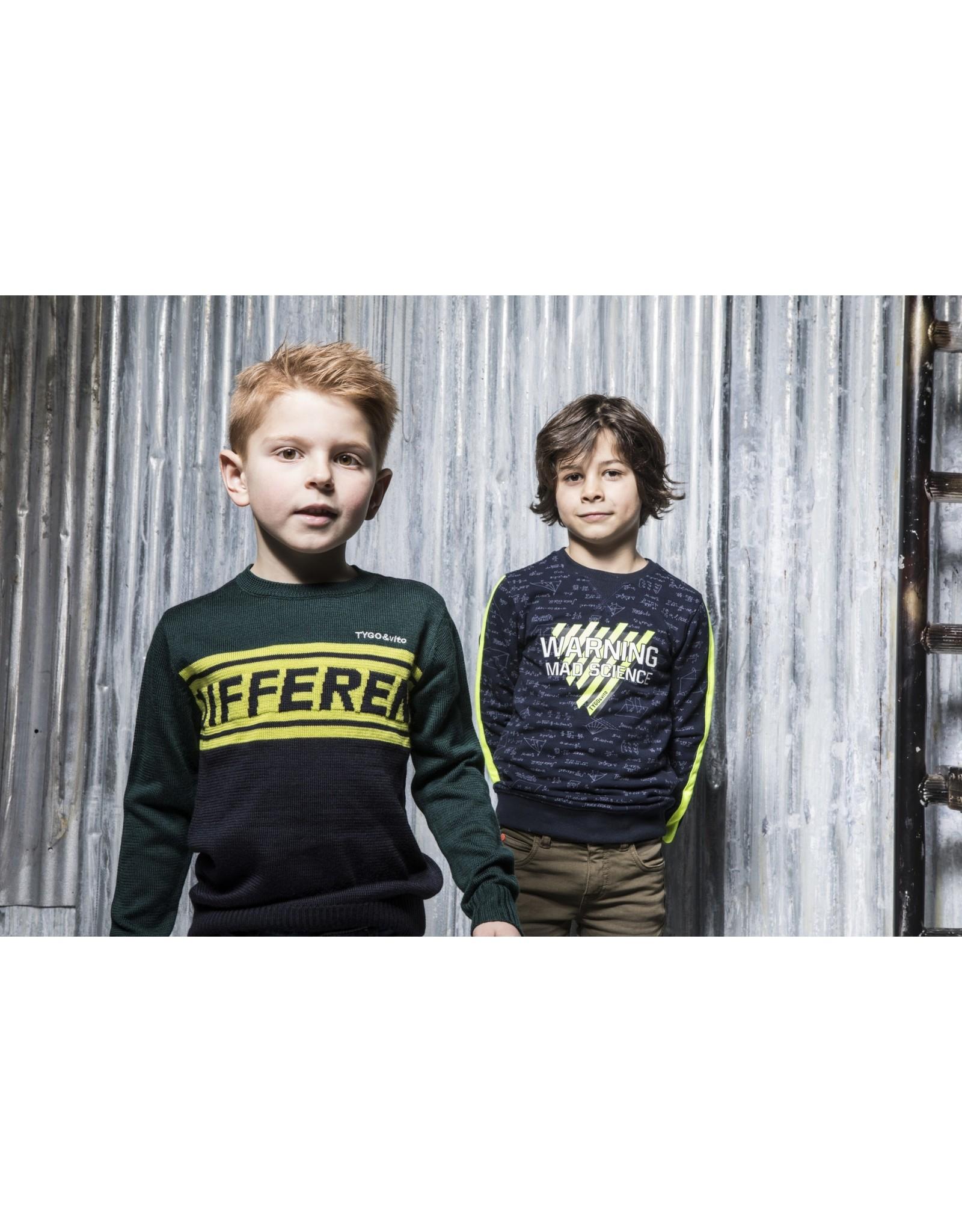 TYGO & vito TYGO & vito jongens sweater Warning Navy