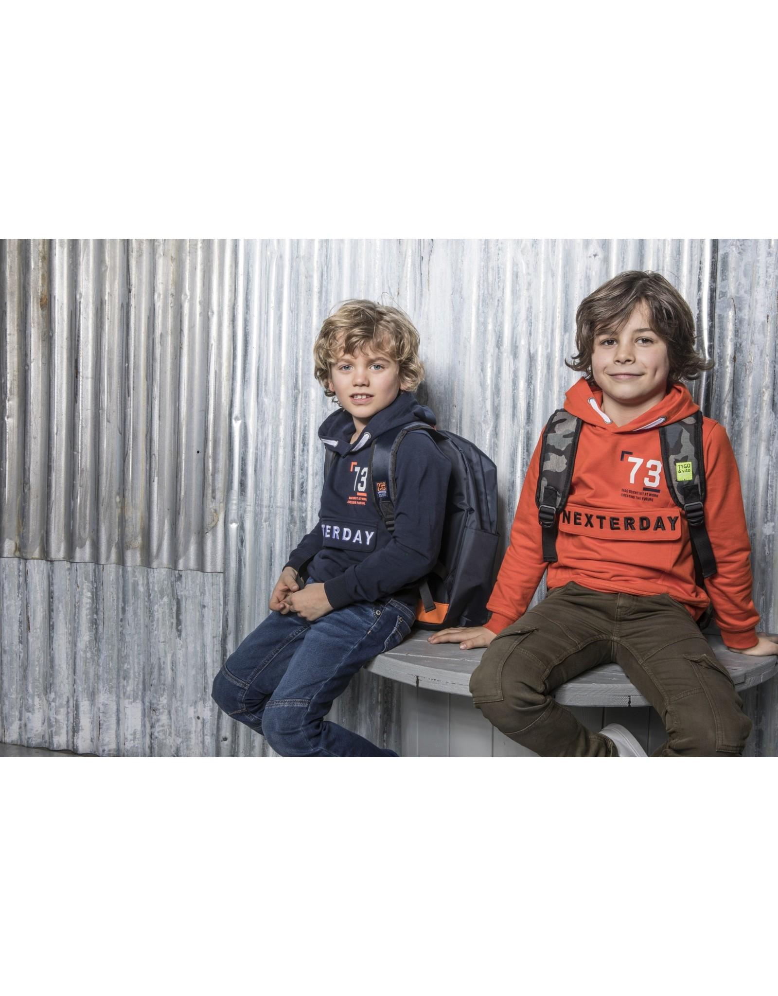 TYGO & vito TYGO & vito jongens hoodie 73 D.Orange