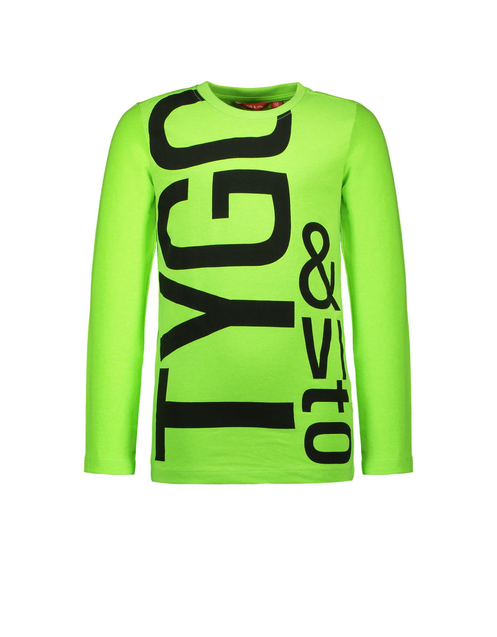 TYGO & vito TYGO & vito jongens shirt Logo Green Gecko