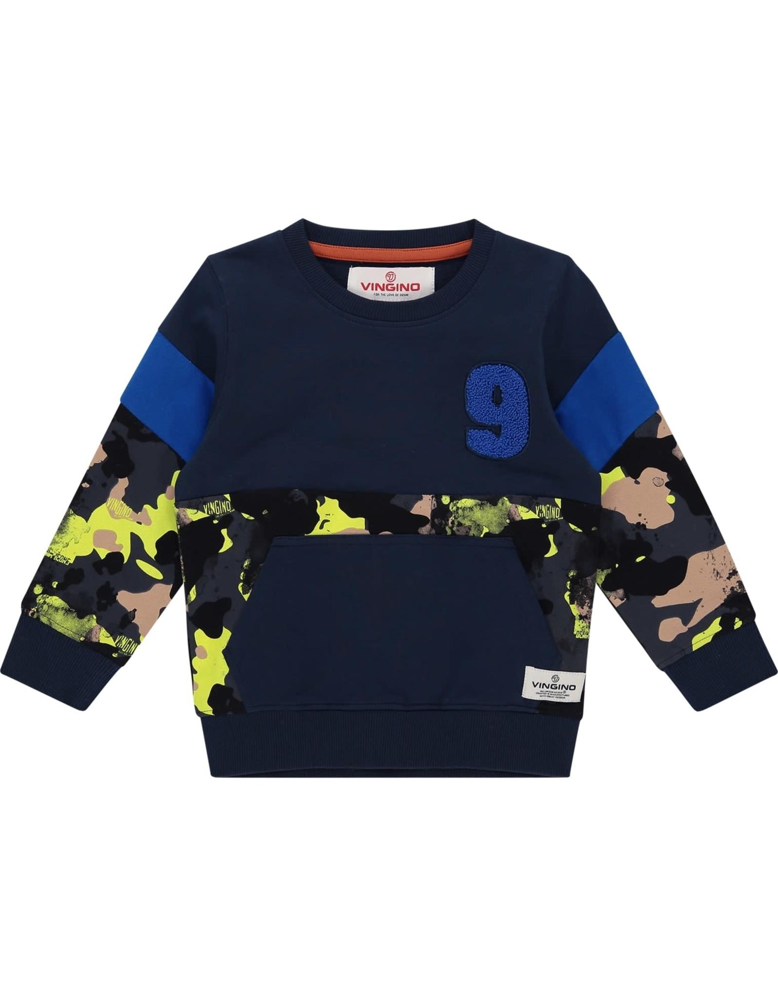 Vingino Vingino jongens sweater Nash Mini Dark Blue