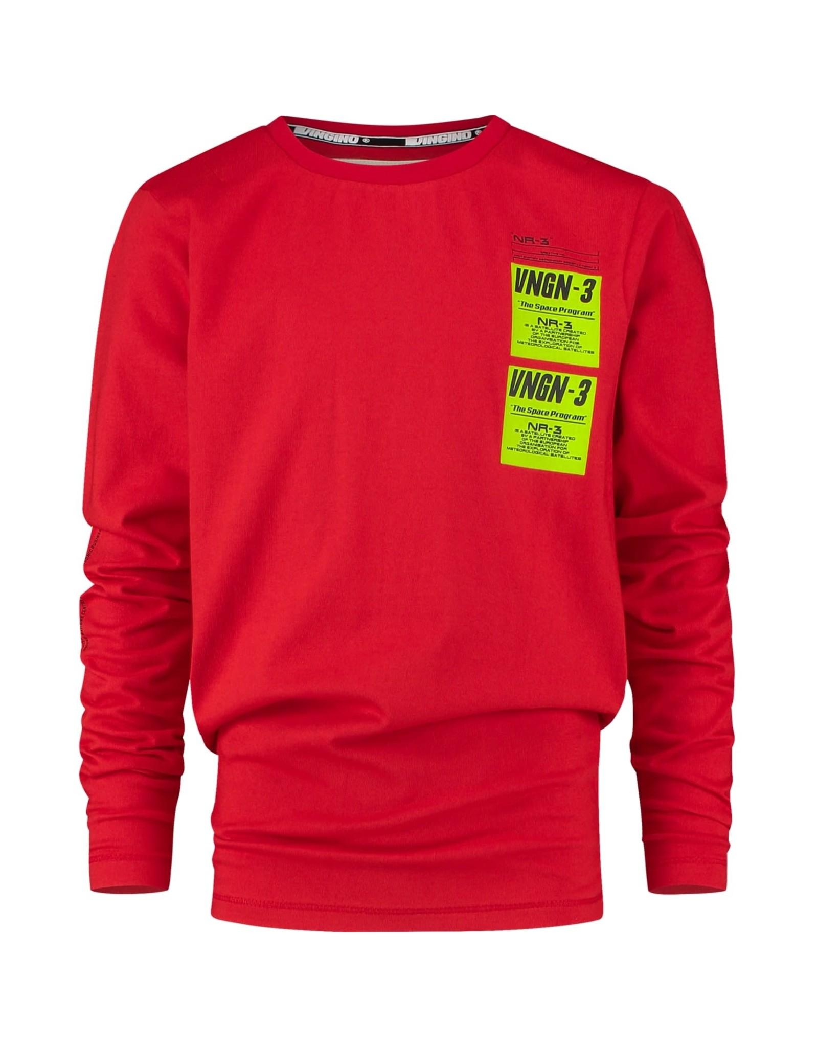 Vingino Vingino jongens shirt Jace Flame Red