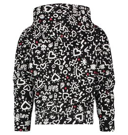 Vingino Vingino meiden hoodie Noria Deep Black