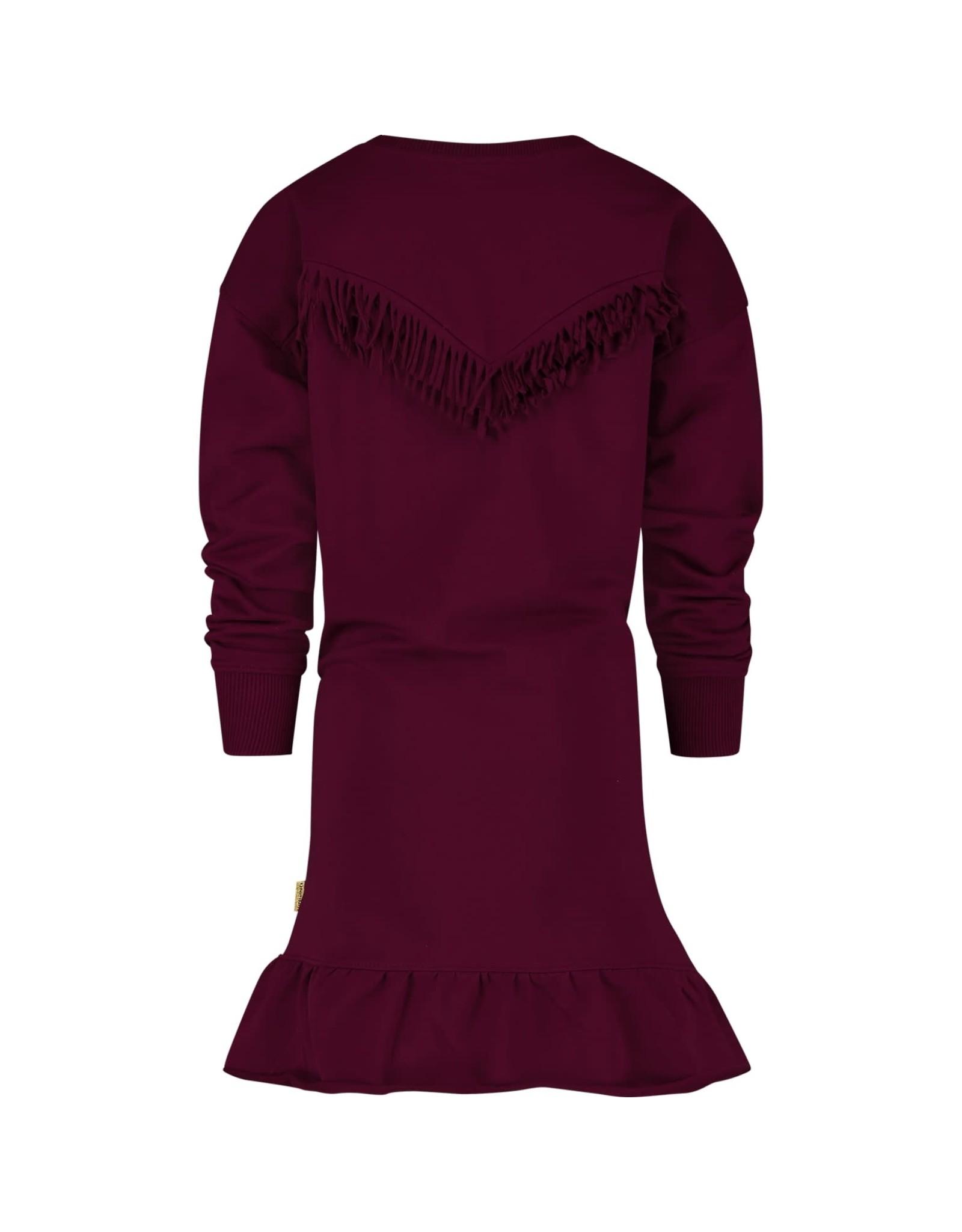 Vingino Vingino meiden jurk Patrieske Bordeaux Red
