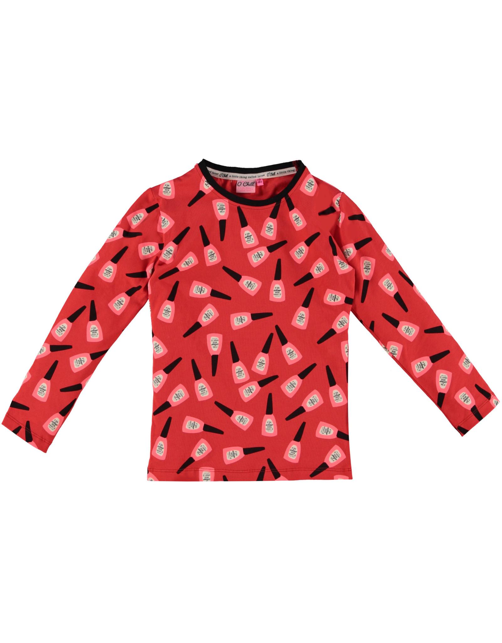O'Chill O'Chill meiden shirt Tara Red
