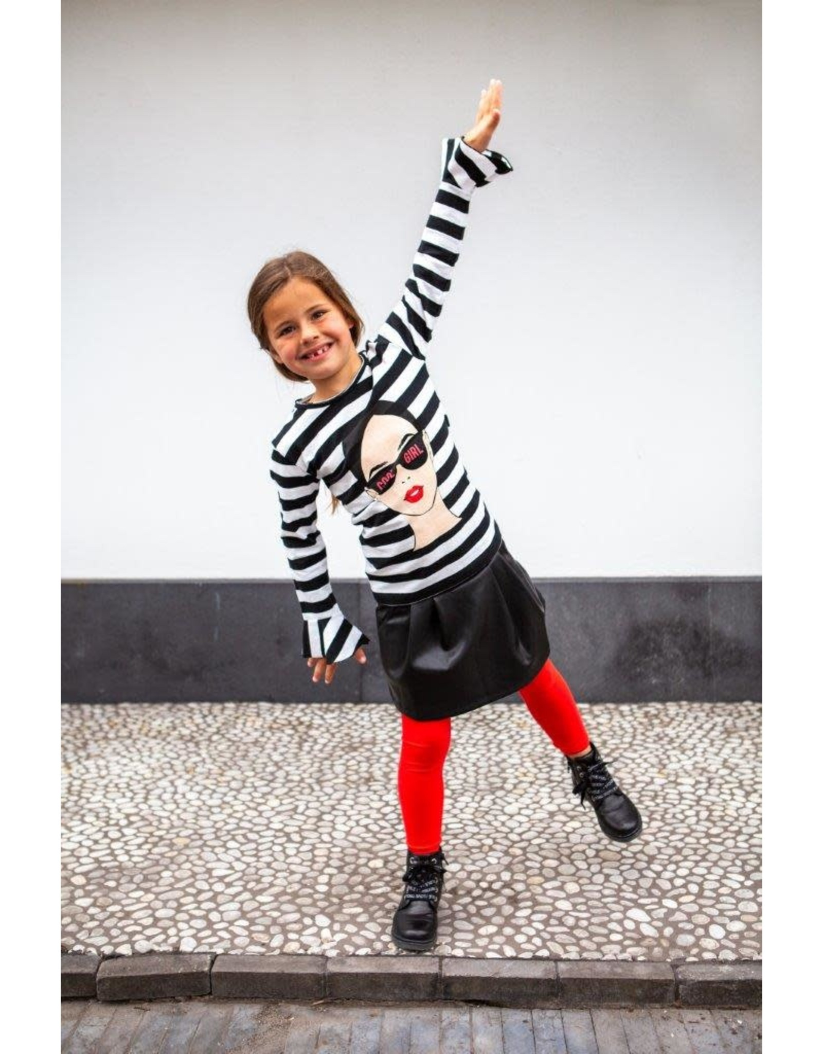 O'Chill O'Chill meiden shirt Paola Black White