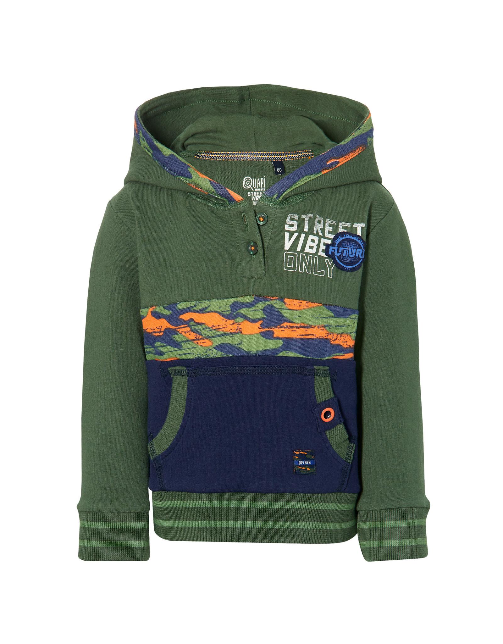 Quapi Quapi baby jongens sweater Evon Dark Green
