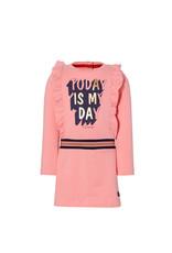 Quapi Quapi baby meisjes jurk Edith Strawbarry Pink