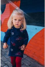 Quapi Quapi baby meisjes jurk Elke Dark Blue Flower