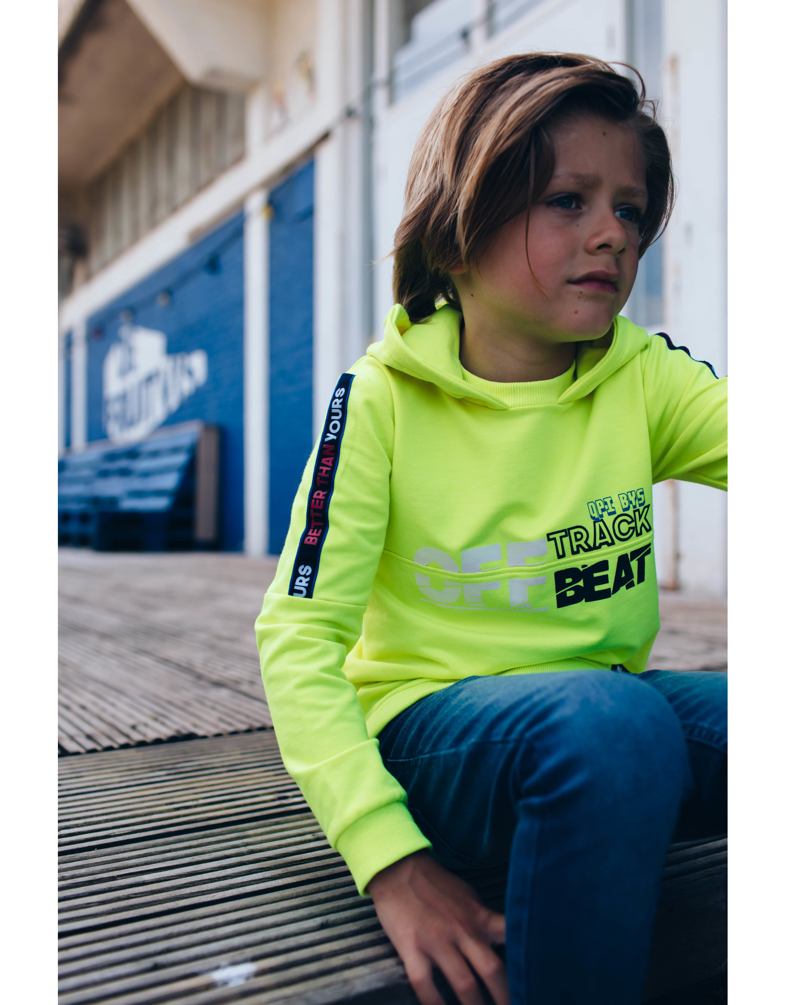 Quapi Quapi jongens hoodie Danny Lime Neon