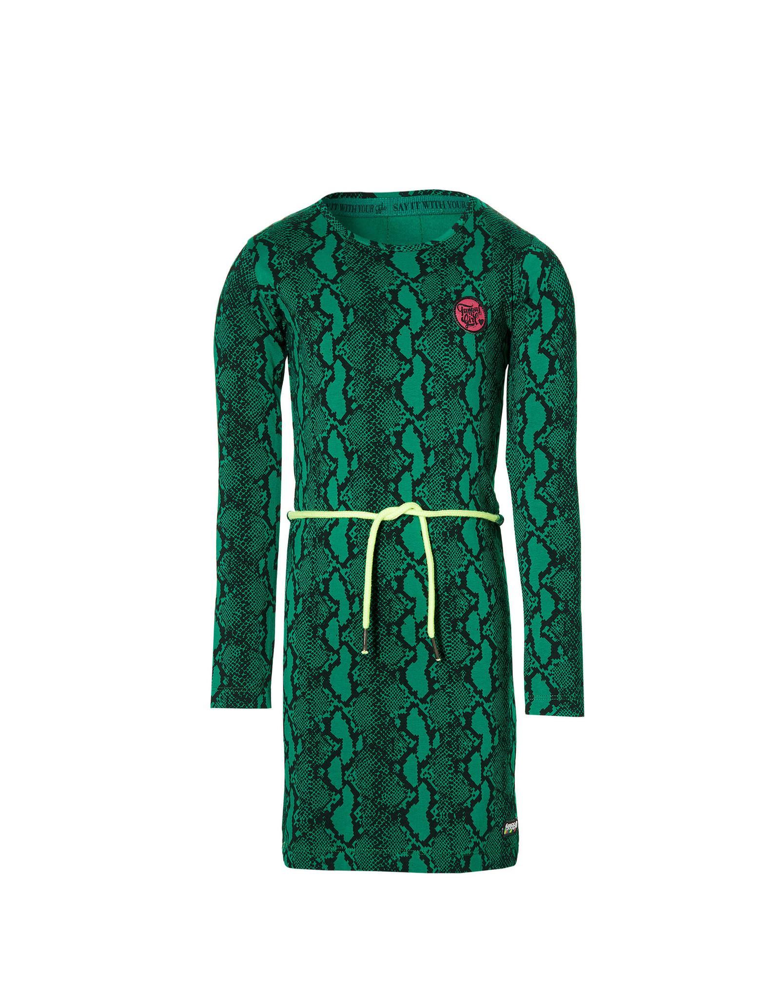 Quapi Quapi meisjes jurk Daantje Green Snake