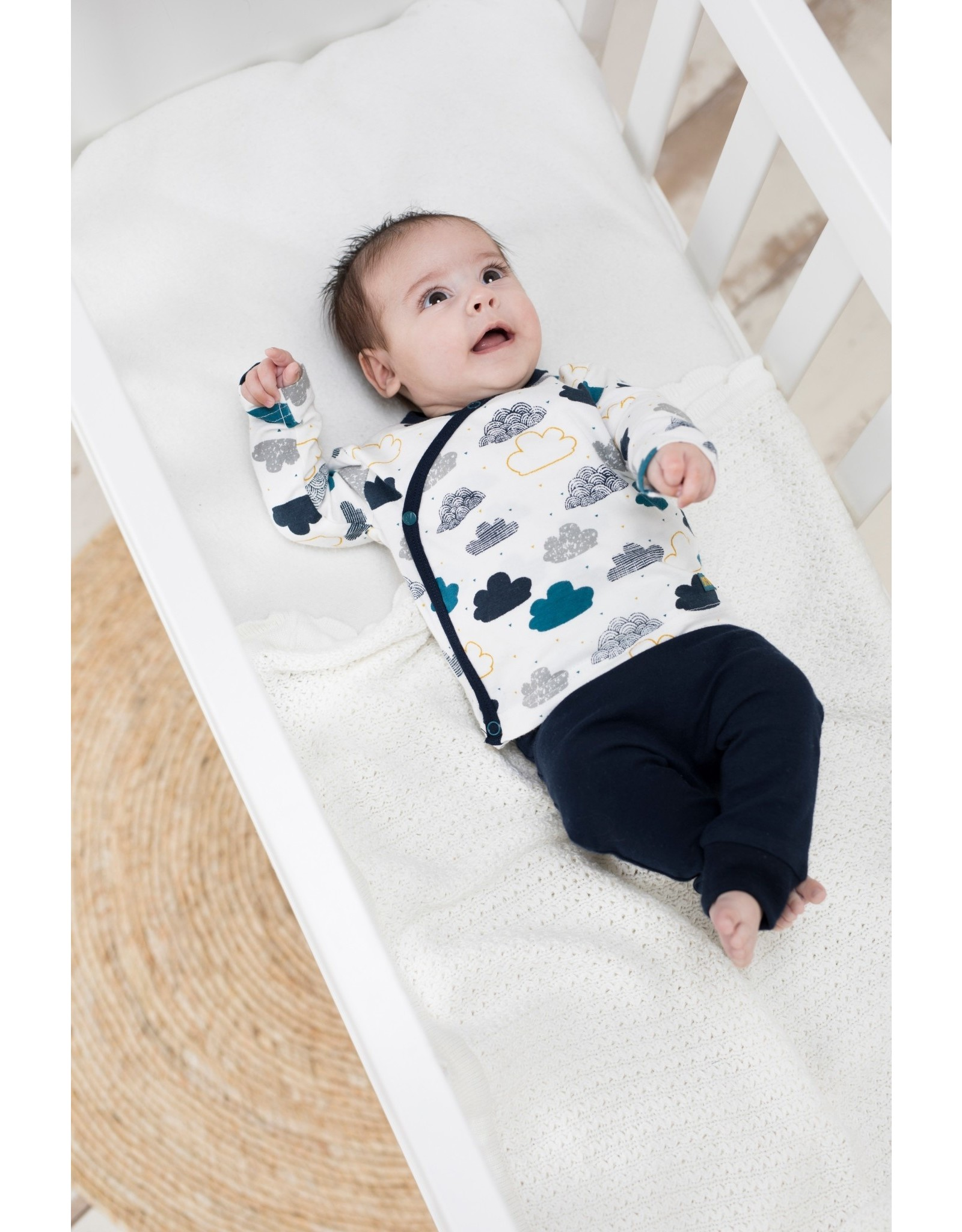 Bampidano Bampidano New Born baby jongens joggingbroek Ayden Clouds Navy