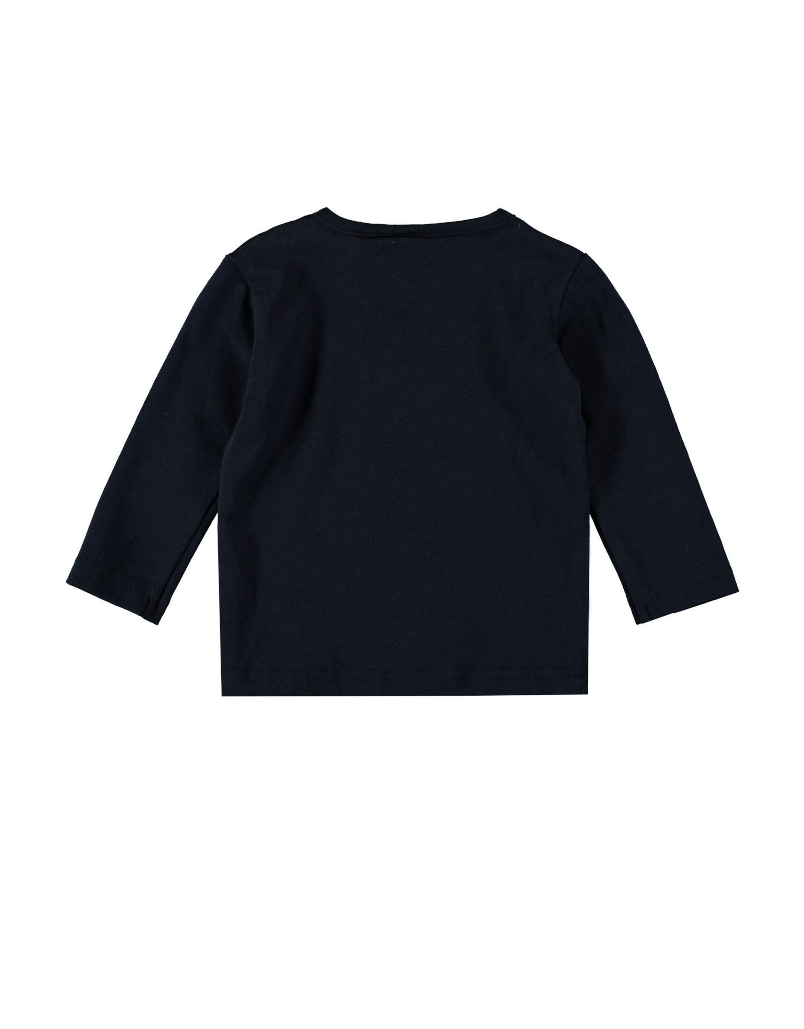 Bampidano Bampidano New Born baby jongens shirt Avery Clouds Navy