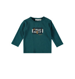 Bampidano Bampidano New Born baby jongens shirt Avery Clouds Petrol