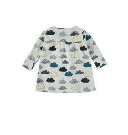 Bampidano Bampidano New Born meisjes jurk Anna Clouds Allover