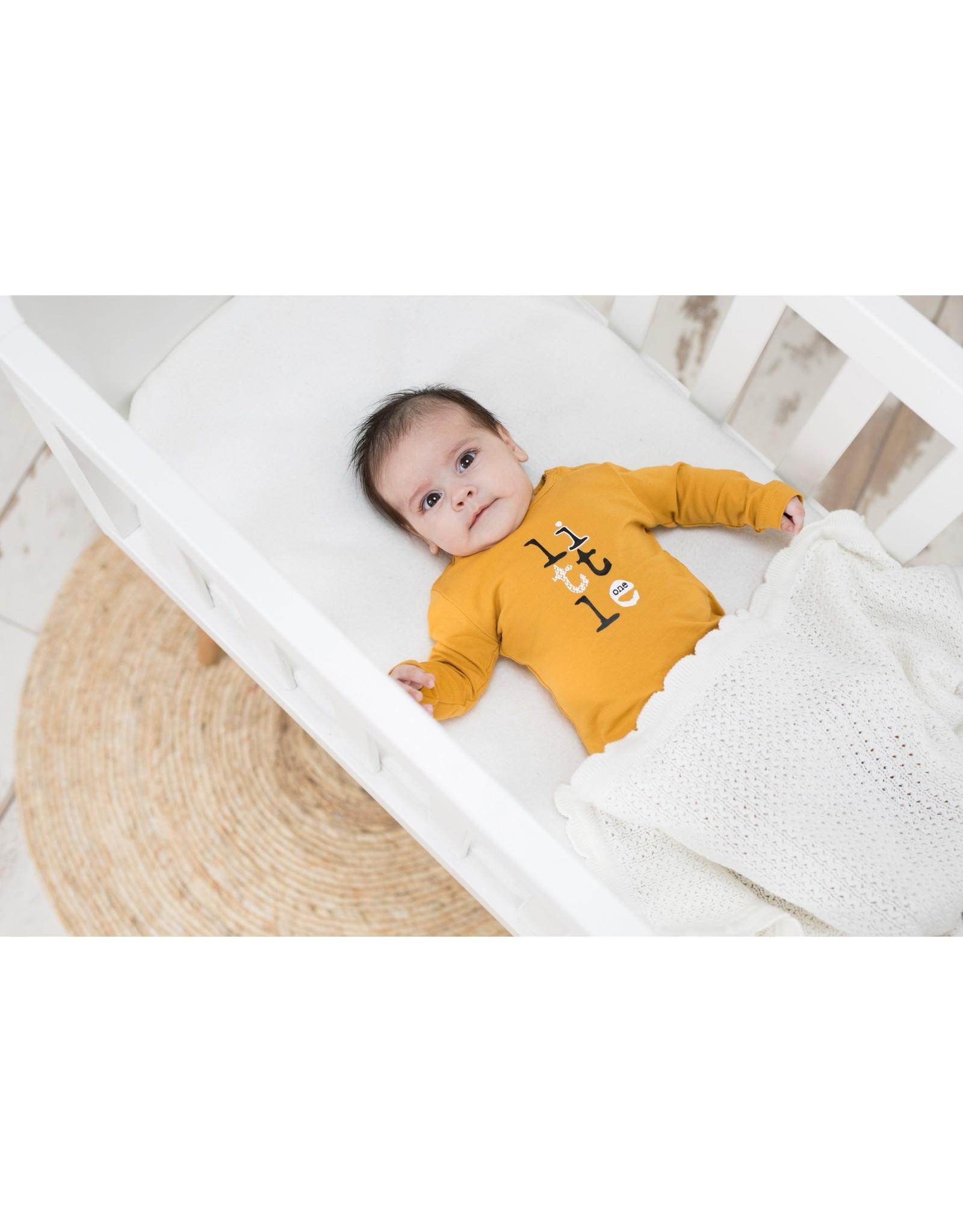 Bampidano Bampidano New Born jongens shirt Brandon Free Hugs Ocre Yellow