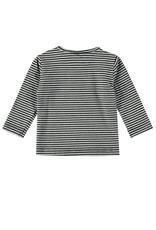 Bampidano Bampidano New Born jongens shirt Brandon Free Hugs Anthra Melee Stripe
