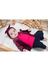 Bampidano Bampidano baby meisjes vest Babette SWEET Bordeaux