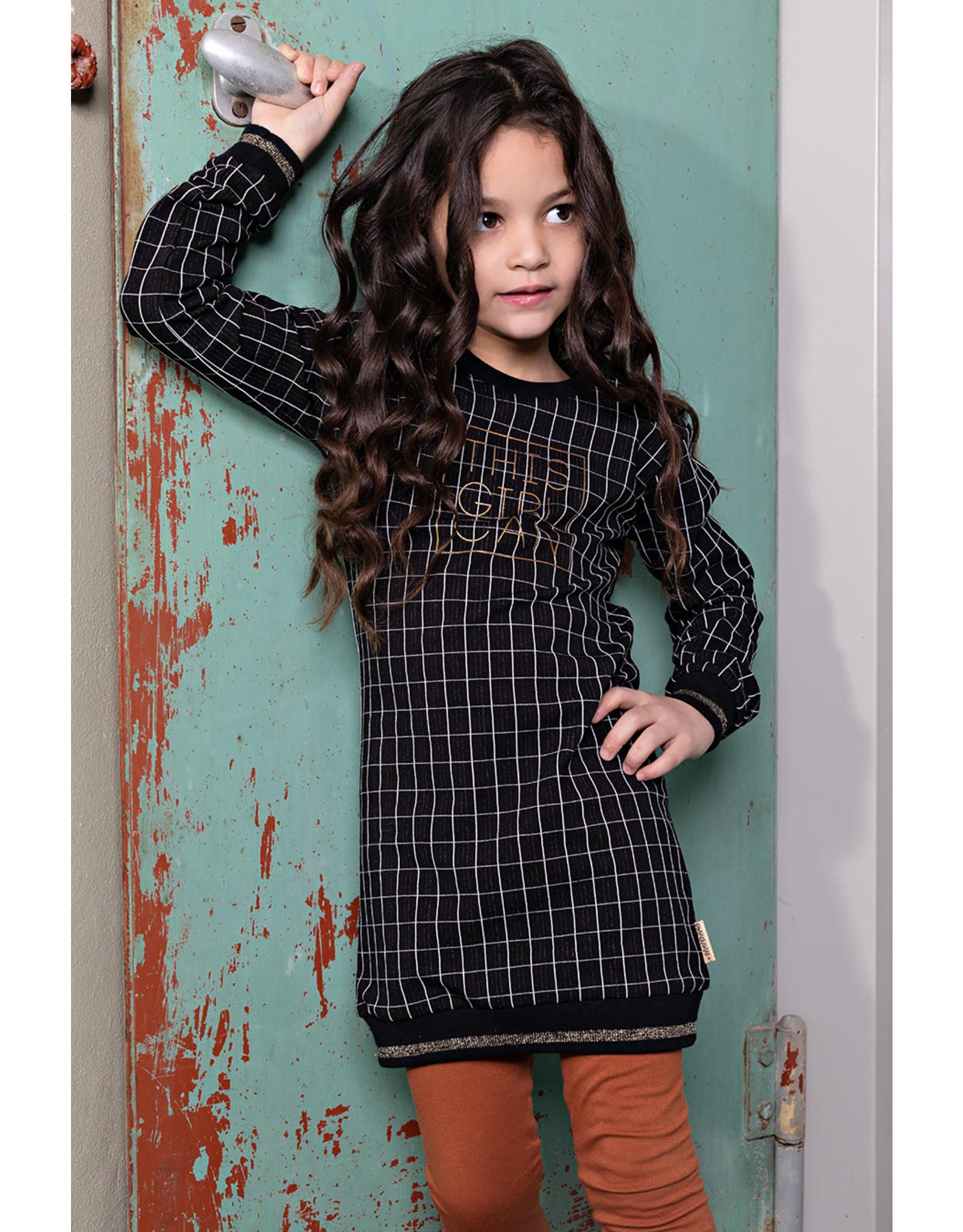 Bampidano Bampidano meisjes jurk Candice MON CHERI Black Check