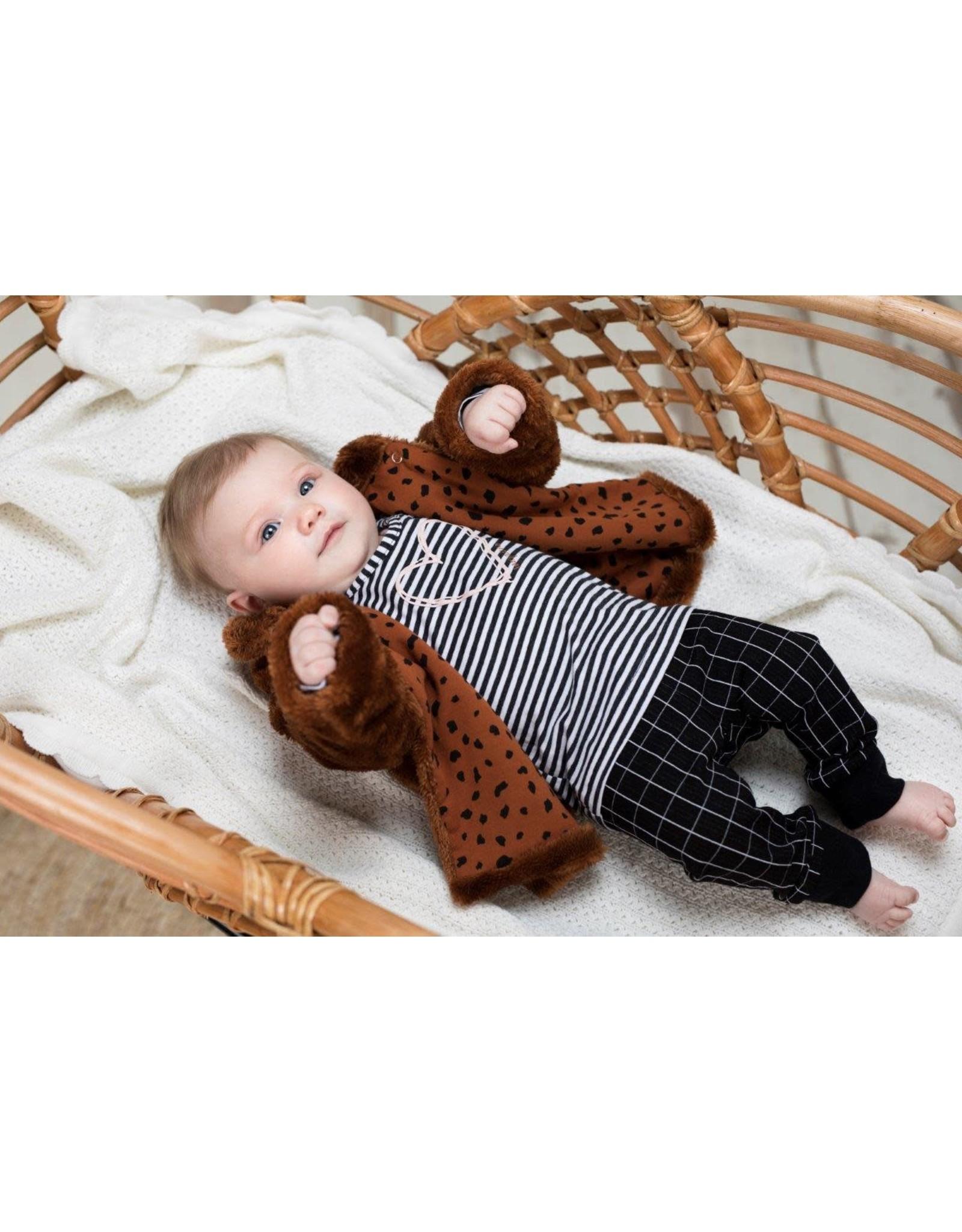 Bampidano Bampidano baby meisjes teddy vest Charlotte DALMATIAN Mocha