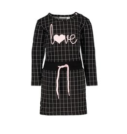 Bampidano Bampidano baby meisjes jurk Celina DALMATIAN Black Check