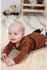 Bampidano Bampidano baby meisjes jurk Celina DALMATIAN Mocha aop