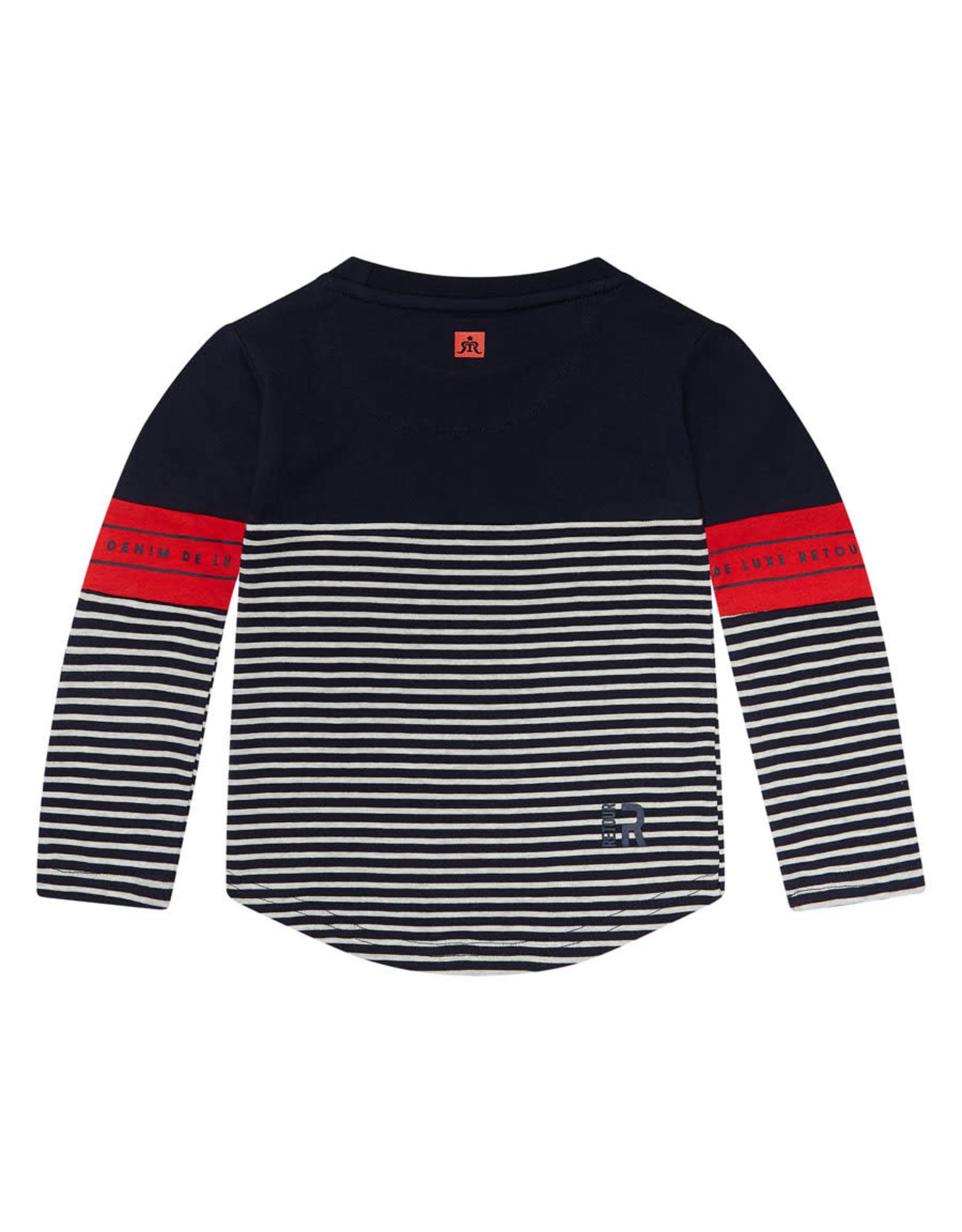 RETOUR Retour baby jongens shirt Tonio Navy