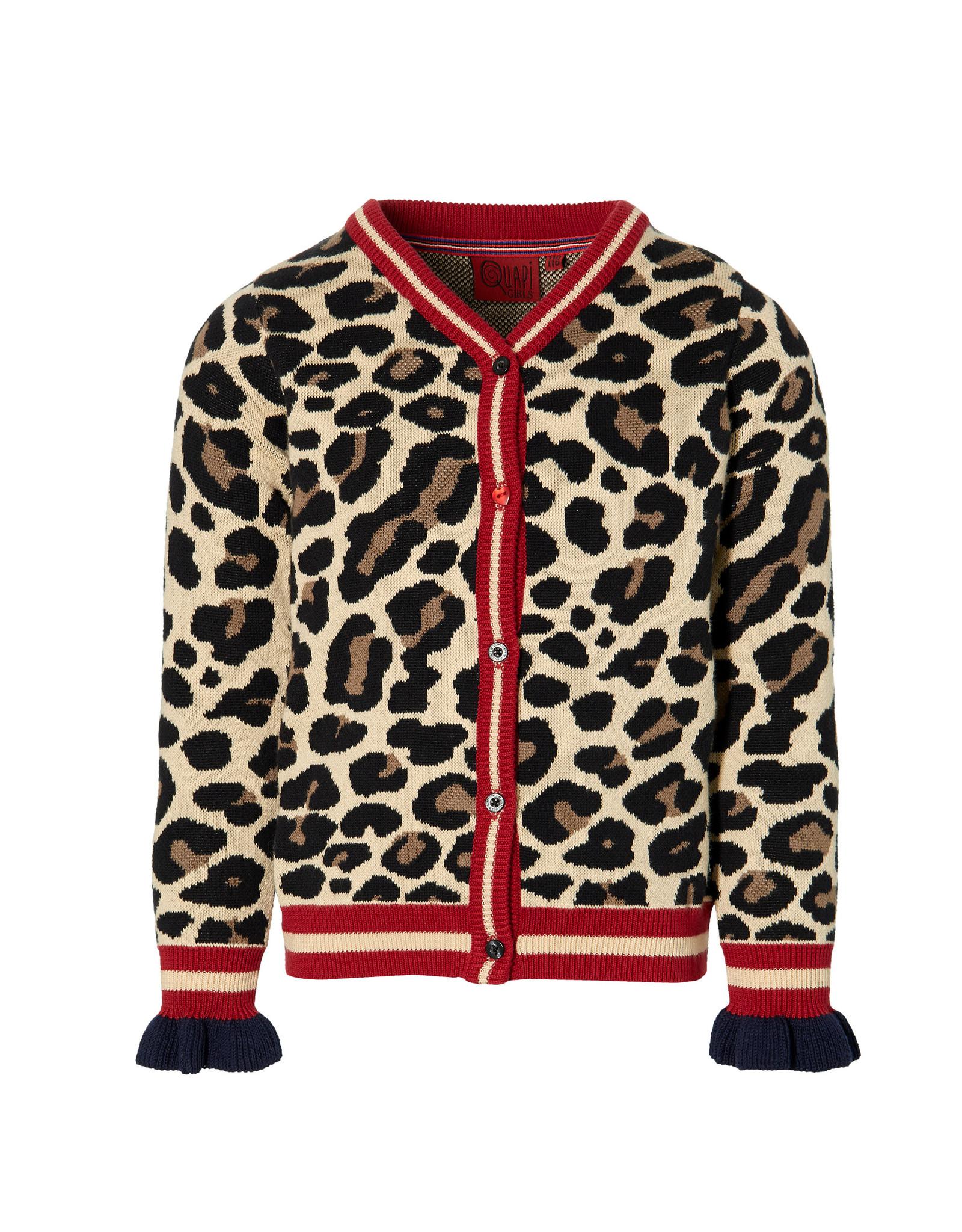 Quapi Quapi meisjes vest Demira Leopard