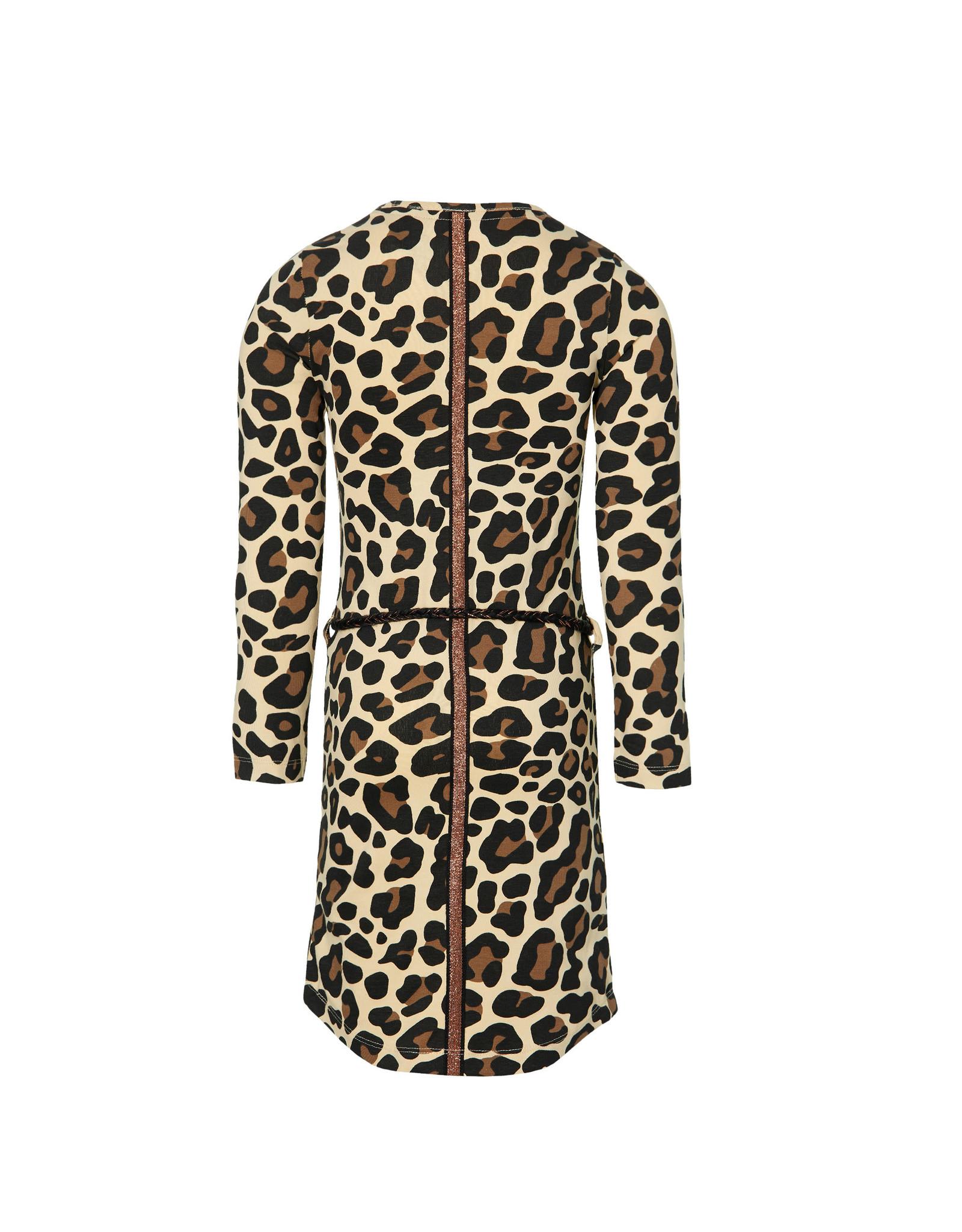 Quapi Quapi meisjes jurk Daantje Leopard