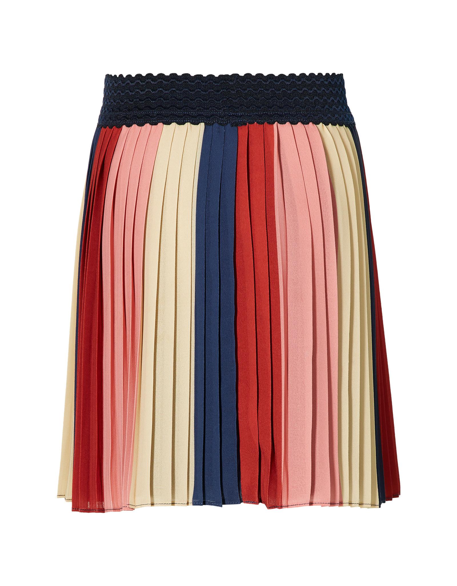 Quapi Quapi meisjes plissé rok Dila Multi Stripe
