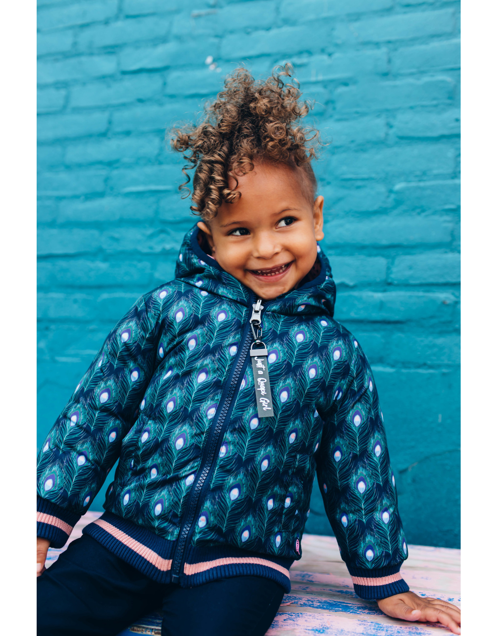 Quapi Quapi baby meisjes reversible winterjas Eefje