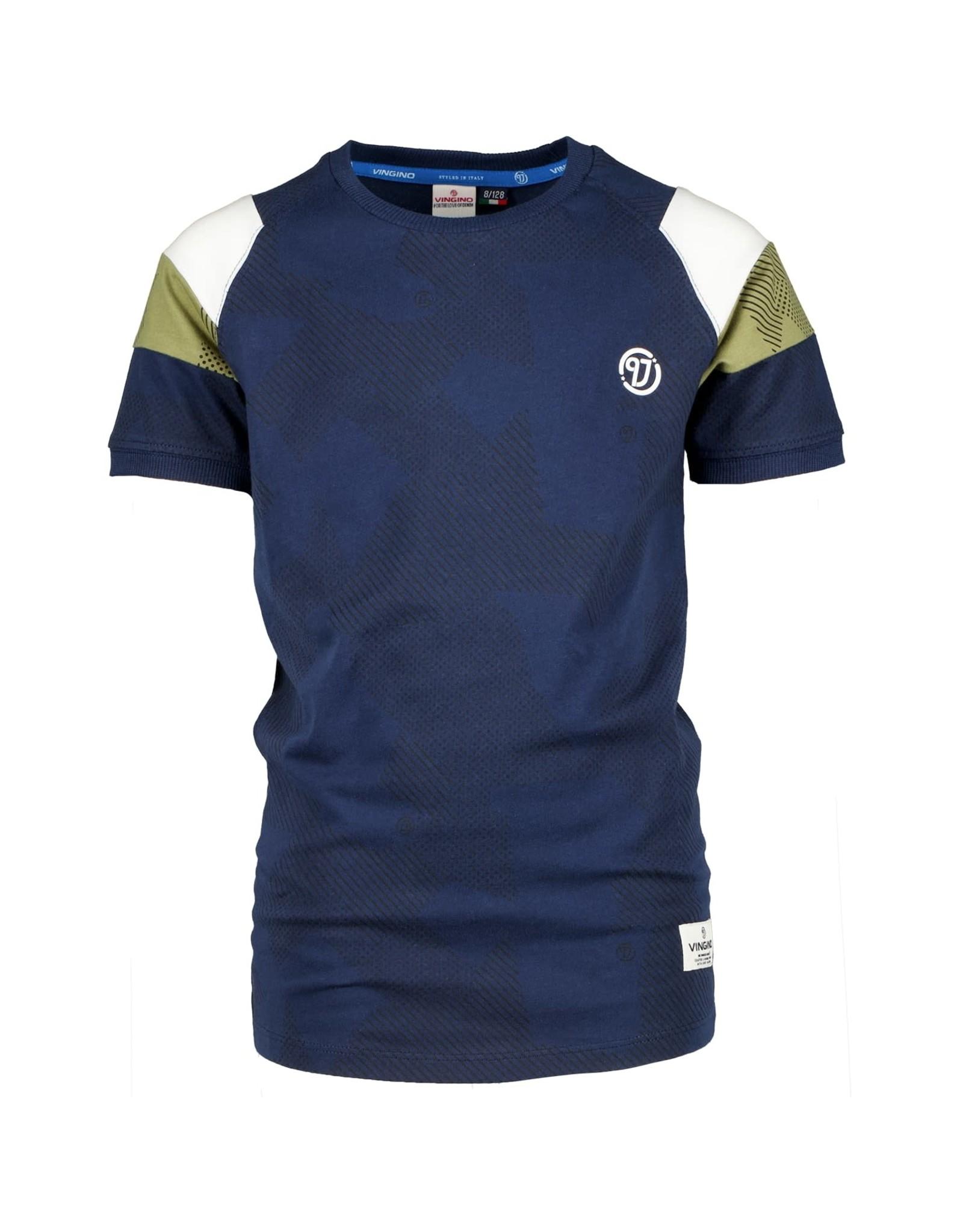 Vingino Vingino jongens t-shirt Hacalo dark blue