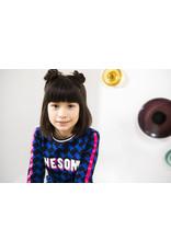 B.Nosy B.Nosy meisjes shirt Maxi Cobalt Puzzle