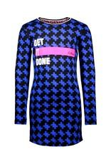 B.Nosy B.Nosy meisjes jurk Maxi Cobalt Puzzle