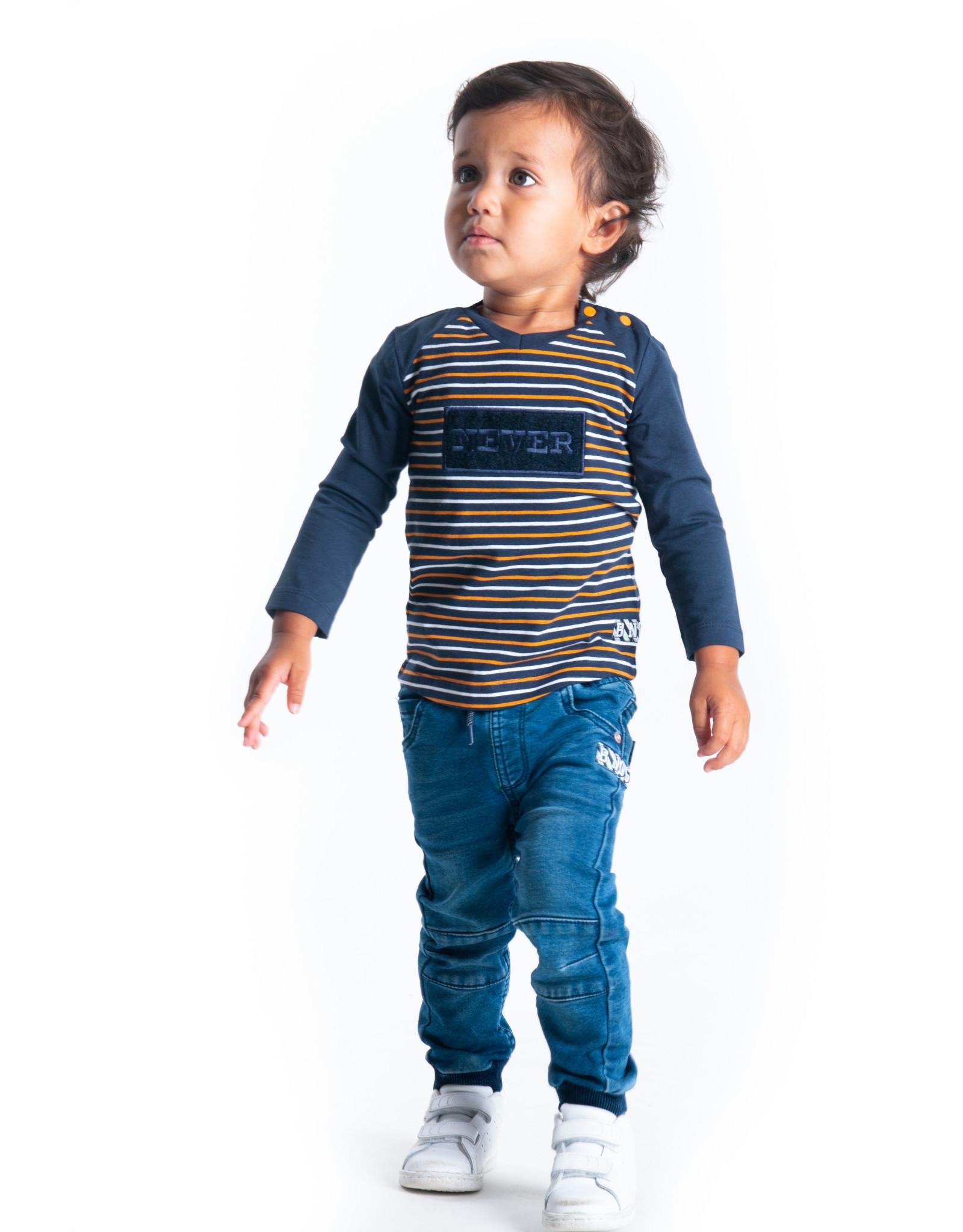 B.Nosy B.Nosy baby jongens shirt Never oak Stripe