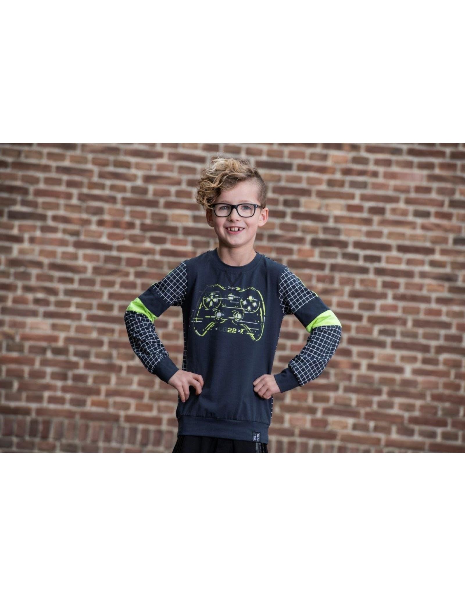 Legends jongens sweater Simon D.Blue Yellow