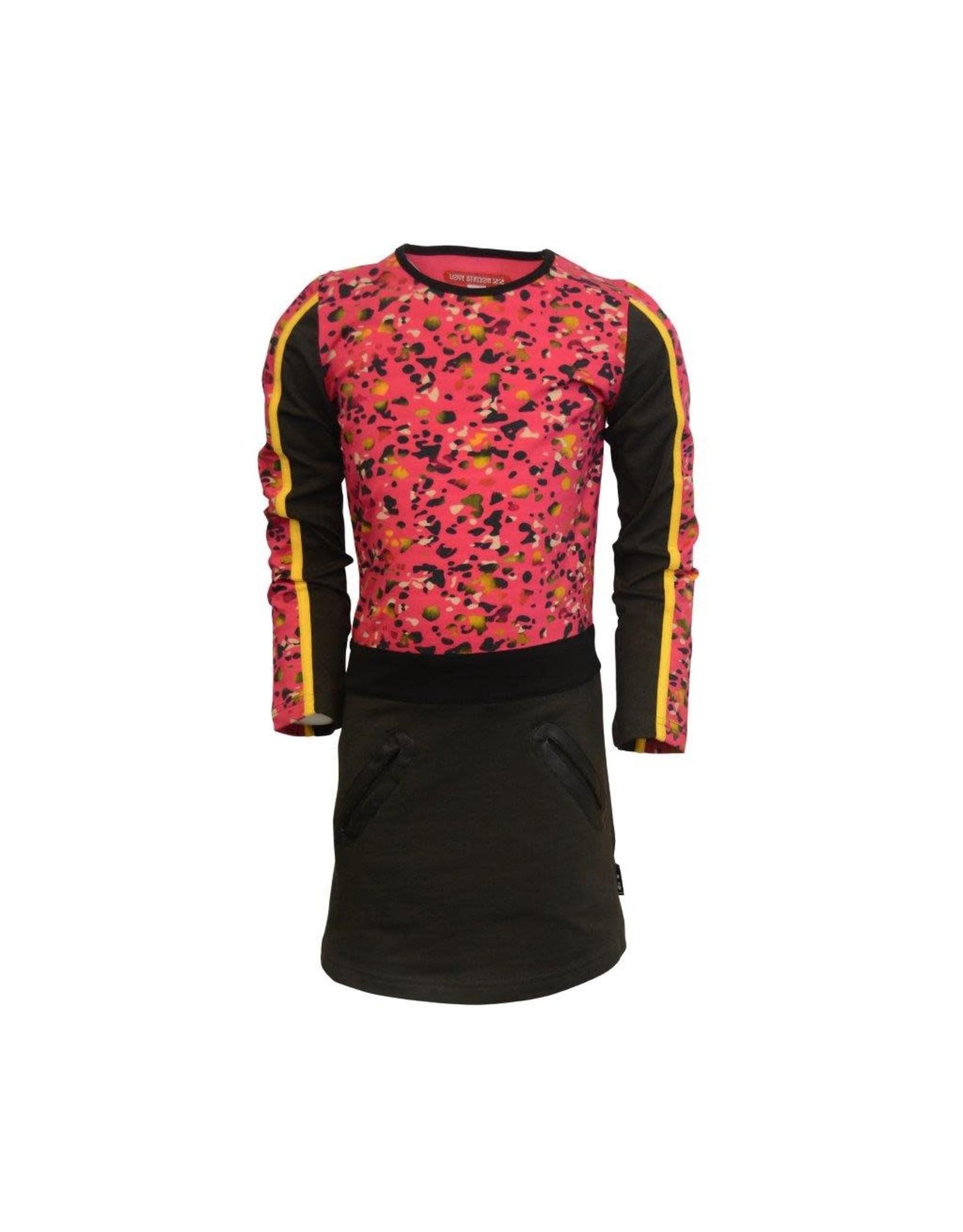 Lovestation Love Station meisjes jurk Celina Pink