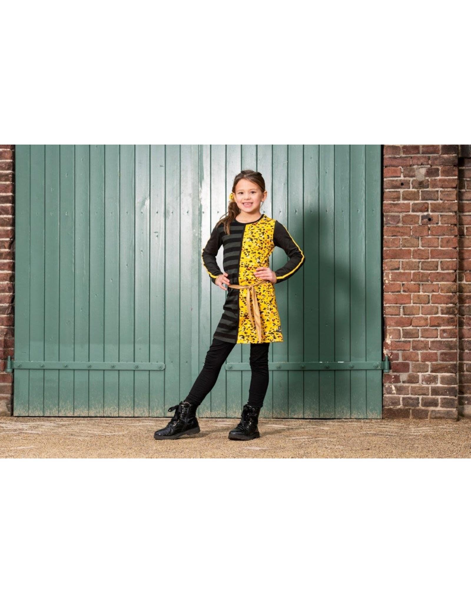 Lovestation meisjes jurk Hiske Yellow