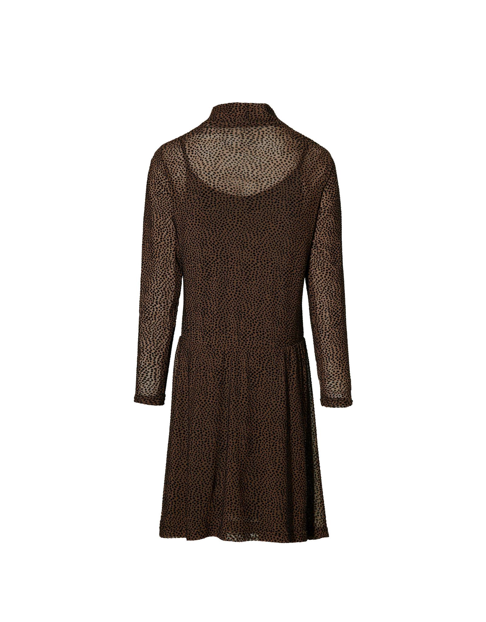 LEVV Levv meiden jurk Kaitlyn Mid Brown Dot