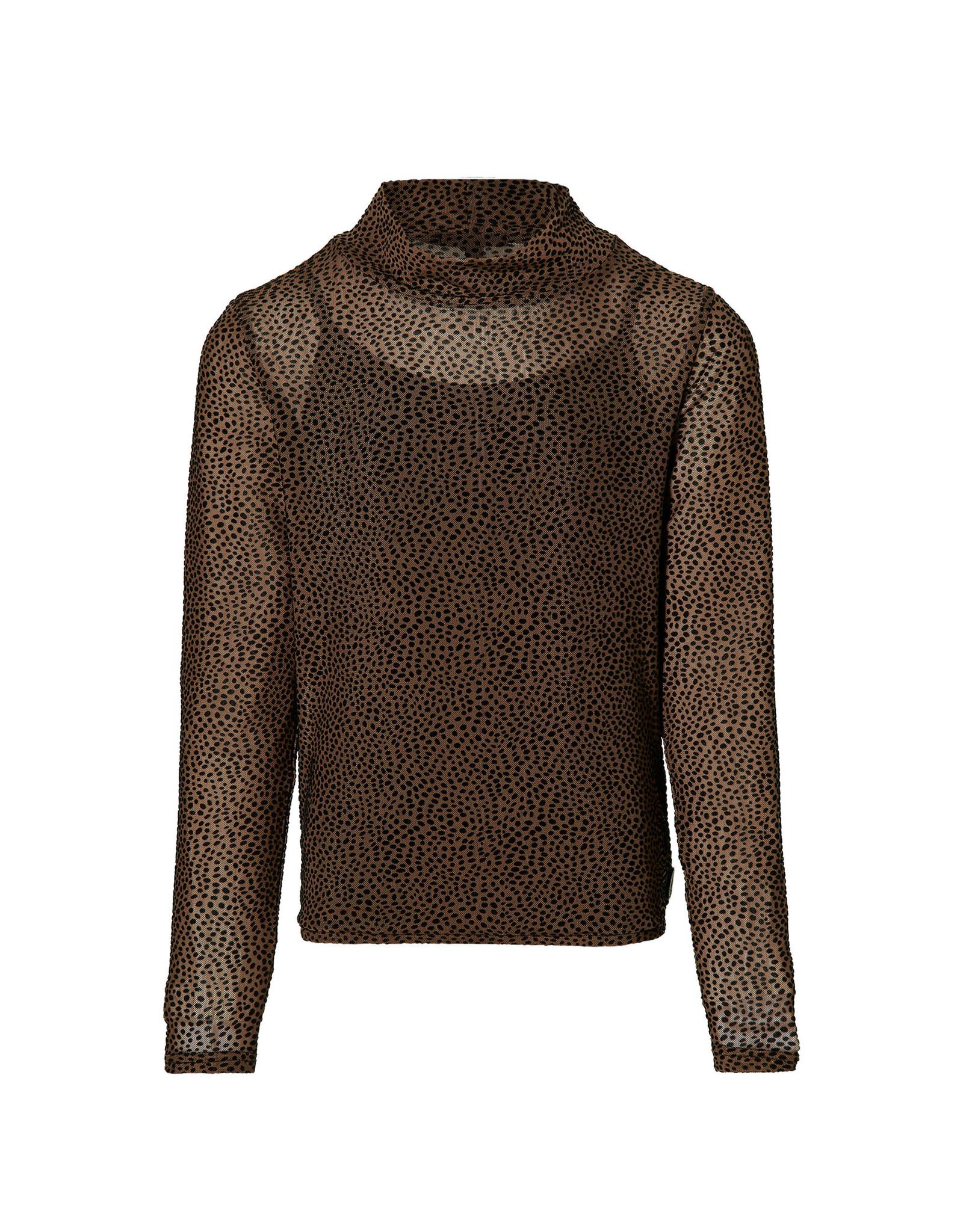 LEVV Levv meiden shirt Kaya Mid Brown Dot