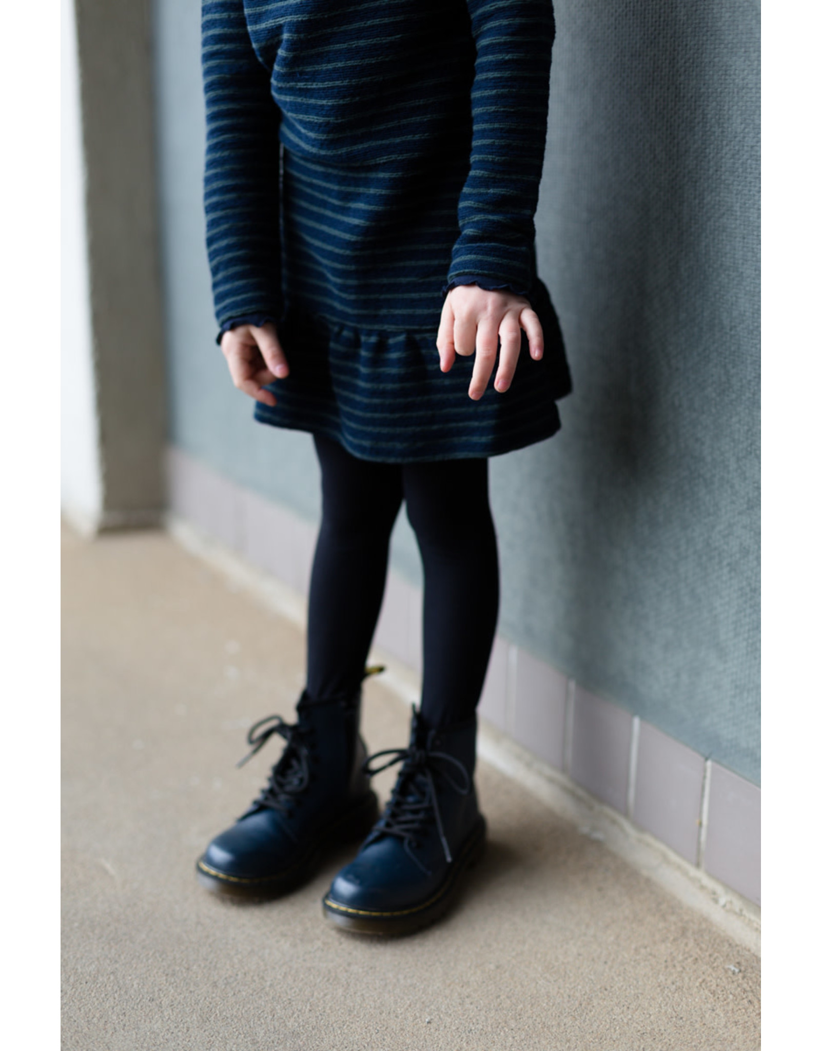LEVV Levv meisjes jurk Lara Dark Blue Stripe