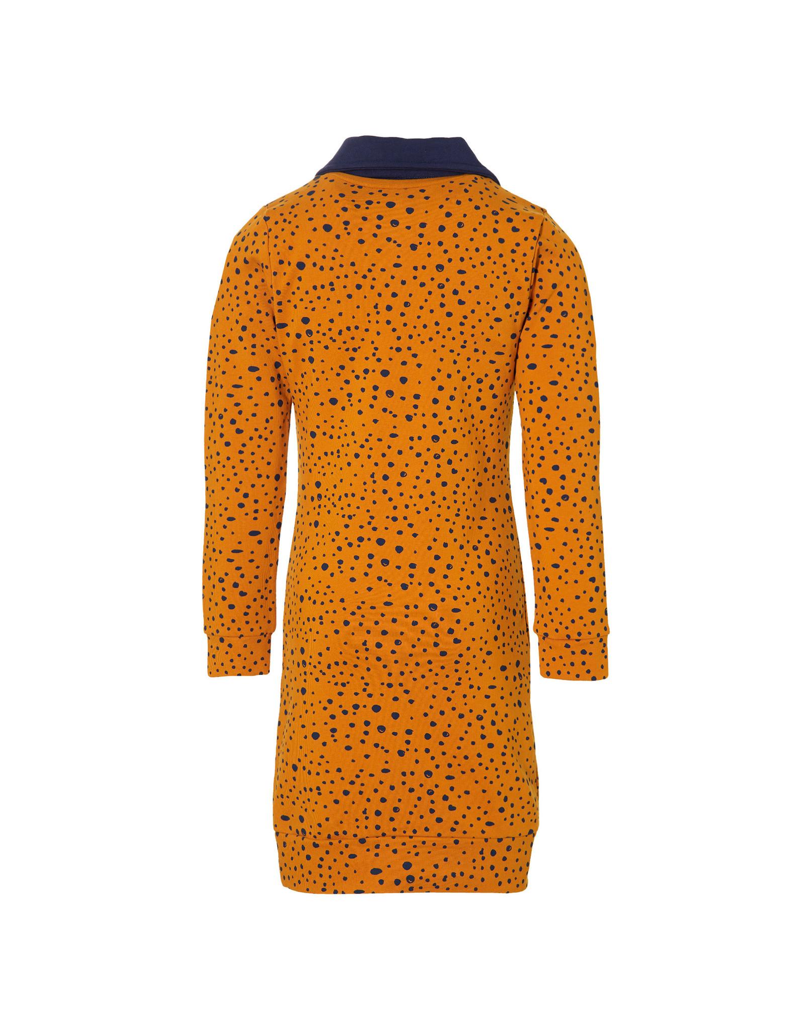 Quapi Quapi meisjes jurk Delice Moster Yellow Dot